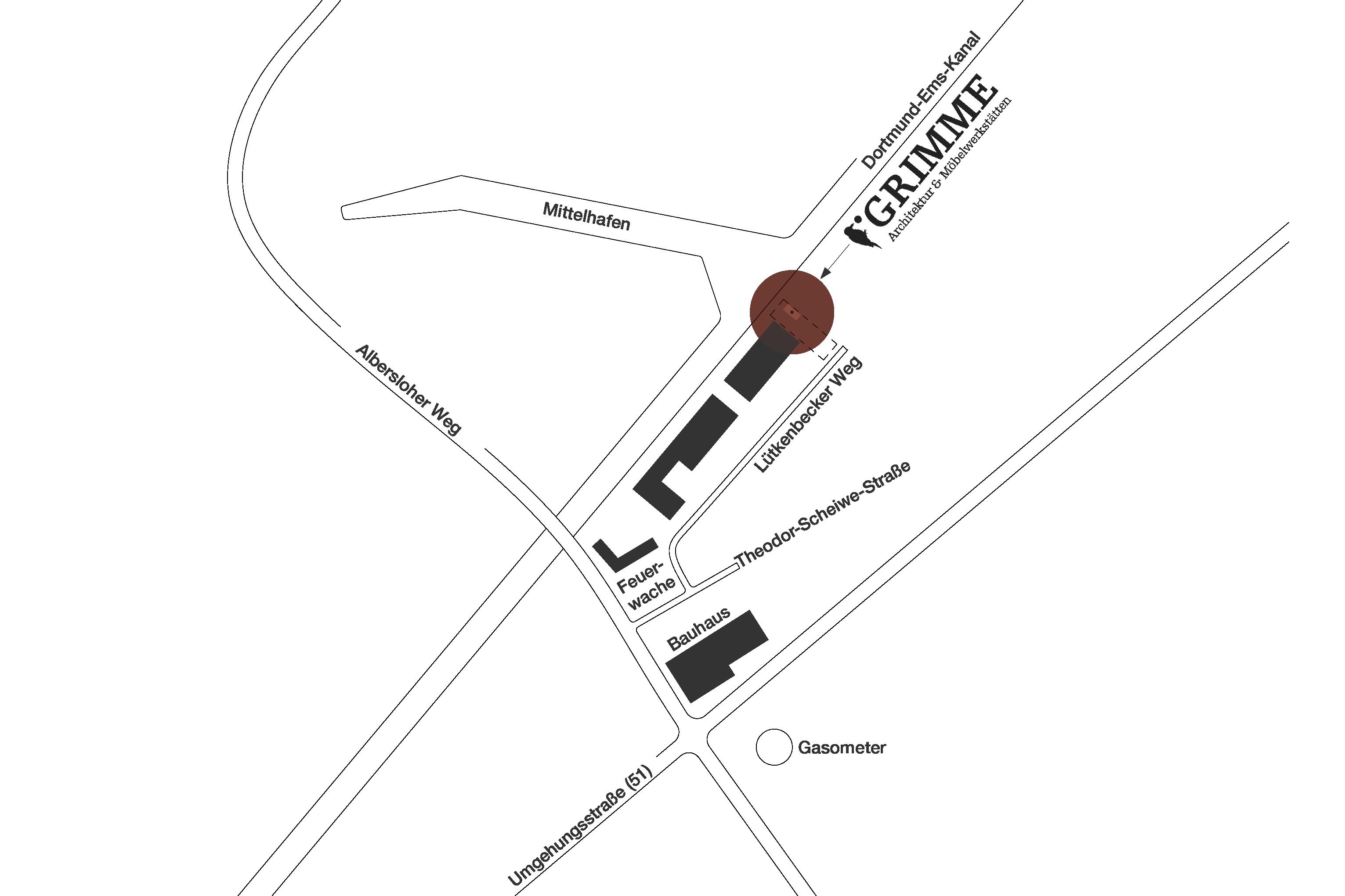 Lageplan Johannes Grimme Münster